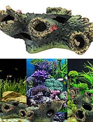 Décoration d'aquarium Bois résine Noir