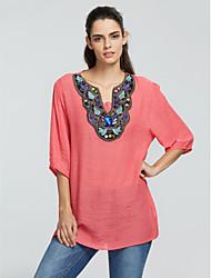 Women's Embroidery Vintage Plus Sizes Shirt