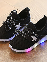 Athletic Shoes Spring Summer Fall Led Light Up Shoes Comfort Light Soles Tulle Outdoor Athletic Casual Sport Low Heel LED Black Blue Pink Running
