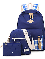 Women Backpack Canvas All Seasons Sports Casual Outdoor Shopping Zipper Green Black Ruby Dark Blue Pale Blue
