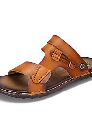 Sandali da uomo estate comfort suole di luce calze casual khaki giallo terra