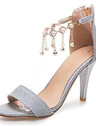Women's Sandals Spring Summer Fall PU Dress Casual Party & Evening Stiletto Heel Rhinestone Buckle