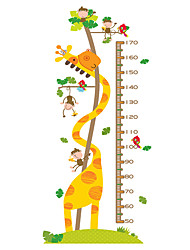 Wall Stickers Wall Decals Style Long Deer Monkey Measure Your Height PVC Wall Stickers