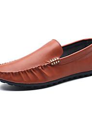 Men's Loafers & Slip-Ons Spring / Fall Comfort PU Casual Flat Heel Slip-on Brown Sneaker