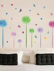 Cartoon Colorful Flower Ball Wall Sticker Vinyl Material Home Decoration