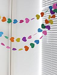 raylinedo® 1 шт 4 метра многоцветной бумага гирлянда для свадьбы летию со дня рождения рождества партии девушки украшение помещения форме