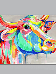 Handmade Home Decor Paintings Abstract Animal Canvas Art Cow Oil Painting On Canvas For Wall Decor Artworks Modern Wall With Frame