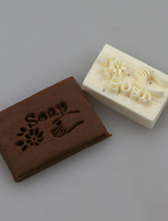 Hand With Flower Soap Letters Shape DIY Handmade Soap Chapter Seals Tool Design