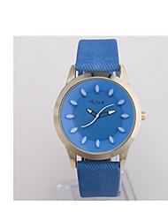 YAZOLE Mulheres Relógio Esportivo Quartzo / Couro Banda Vintage Preta Branco Azul Marrom Branco Preto Marron Azul