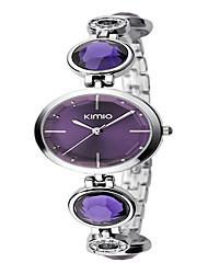 Damen Modeuhr Armband-Uhr Quartz Legierung Band Elegante Silber Marke