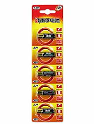 NANFU 12V Alkaline 27A Battery 12V 5 Pack