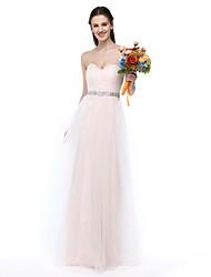 LAN TING BRIDE Floor-length Sweetheart Bridesmaid Dress - Elegant Sleeveless Tulle