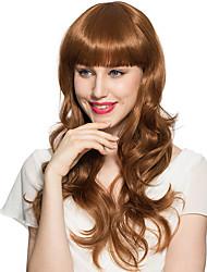 vente chaude perruque longue vague profonde synthétique coiffure perruque de fibre avec chapeau de perruque