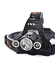 Headlamps - Lumens 4 Mode Cree T6 18650 Dimmable Night Vision Camping/Hiking/Caving Hunting Traveling Climbing Fishing Outdoor Metal