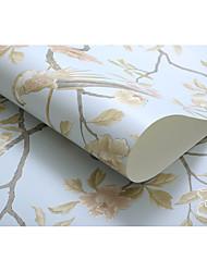 Цветочные Деревья / Листья Обои Для дома Деревенский Облицовка стен , Нетканые бумаги материал Клей требуется обои , Обои для дома