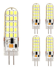 5PCS G4 30LED SMD2835 AC/DC12V 9W 1500lm Warm White/White The Dimmer High Quality Double pin Waterproof Lamp
