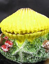 Оформление аквариума Орнаменты Нетоксично и без вкуса Смола Желтый