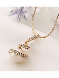Set de Bijoux Pendentif de collier Boucles d'Oreille Bijoux Pendant Imitation de perle Mode euroaméricains Perle Alliage Bijoux Or Argent