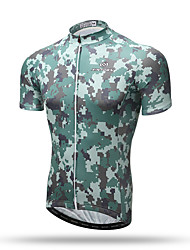 XINTOWN® Short Sleeve Men's Cycling Jerseys Bike Clothing T-shirt Cycling Tops Jungle Camouflage