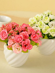 1 Ast Kunststoff Künstliche Blumen 14