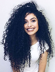 High Quality Brazilian Human Virgin Hair Wigs Glueless Full Lace Afro Kinky Curly Wigs With Baby Hair For Black Woman High Density