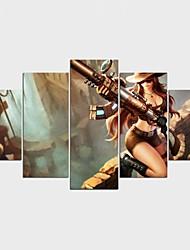 Отпечатки на холсте Люди Мультипликация Modern,5 панелей Холст Любая форма Печать Искусство Декор стены For Украшение дома