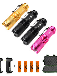 UKing ZQ-X965B#-EU 1500LM Cree XPE SK68 Flashlight Battery and Charger Multi Color Kits