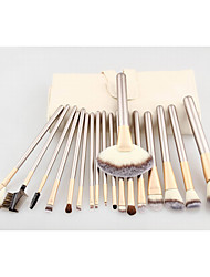 18pcs Contour Brush Makeup Brush Set Blush Brush Eyeshadow Brush Lip Brush Brow Brush Concealer Brush Fan Brush Powder Brush Foundation Brush