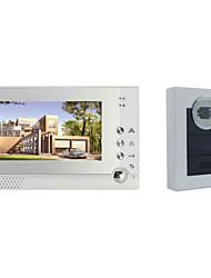 ACTOP smart système rfid intercom maison 1v1 une à une sonnette vidéo 7 pouces écran 6 ir lampes câble interphone visible