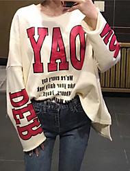 пятно письмо стиль с длинными рукавами свитер