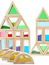Brinquedo Educativo Brinquedos para presente Blocos de Construir Brinquedos Criativos & Pegadinhas Madeira 2 a 4 Anos Arco-Íris Brinquedos