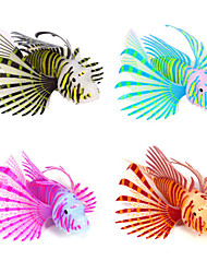 Décoration d'aquarium Poisson Artificiel Noctilumineux Silicone