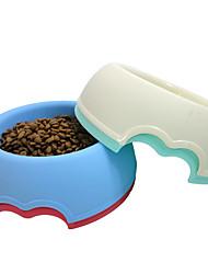 Кошка Собака Миски и бутылки с водой Животные Чаши и откорма Компактность Красный Белый Зеленый Голубой Пластик