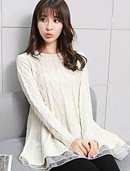 Modell real shot 2017 Frühjahr neue koreanische Version des großen Swing a-Linie Kleid gestrickter Pullover mit einem kleinen Video