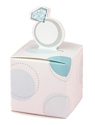 12pcs Favor Holder - Cubic Wedding Ring Candy Box 5.2 x 5.2 x 8 cm Beter Gifts® Party Decoration