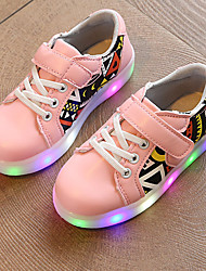 Kids Boys Girl's Sneakers Spring Summer Fall First Walkers Leather Outdoor Sport Glowing Shoes Casual Low Heel LED Black Pink White Walking