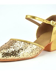Kids' Dance Shoes Latin shoes Gold Red PU leather L41-L42