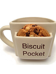 Novelty Drinkware, 300 ml Biscuit Pocket Ceramic Juice Water Coffee Mug