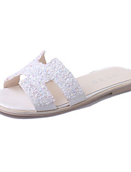 Flats Spring Comfort PU Casual Flat Heel Others Black White