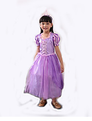 Cosplay Costumes Princess Cinderella Festival/Holiday Halloween Costumes Purple Patchwork Halloween Carnival Children's Day Kid Polyester