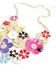 Women's Pendant Necklaces Jewelry Cross Jewelry Imitation Diamond Alloy Flower Style Fashion Personalized European Luxury Jewelry For