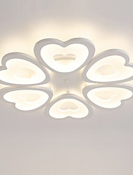 6 Heads Heart shaped Design Modern Style Simplicity LED Ceiling Lamp Metal Flush Mount Living Room light Fixture