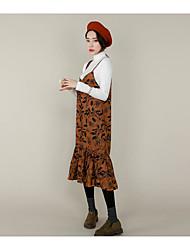 хороший удобный пятно ранней осенью носить ретро цветочные подтяжки комбинезон
