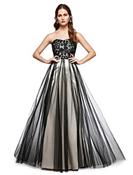 2017 TS Couture® Formal Evening Dress - Elegant A-line Sweetheart Floor-length Lace Tulle with Lace Pleats