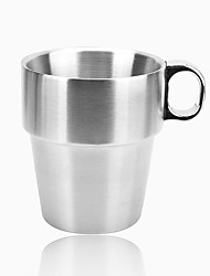 Minimalism Drinkware, 300 ml Heat-Insulated Stainless Steel Tea Juice Coffee Mug