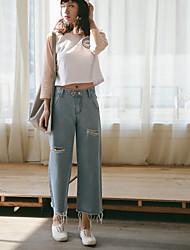 assinar -1 # 2017 Primavera nova versão coreana do simples grande estudante presa Xiaoqing novas soltas calças de pernas largas nove