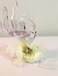 """Fleurs de mariage Rond Petit bouquet de fleurs au poignet Mariage La Fête / soirée Tulle Perle Strass 6.69""""(Env.17cm)"""