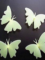 Cartoon Butterfly Luminous Wall Stickers Vinyl Material Home Decoration