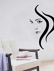 Cartoon Long Hair Girl Wall Sticker Vinyl Material Home Decoration