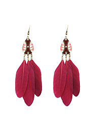Drop Earrings Jewelry Wedding Party Halloween Daily Casual Sports Alloy Feather Enamel 1 pair As Per Picture